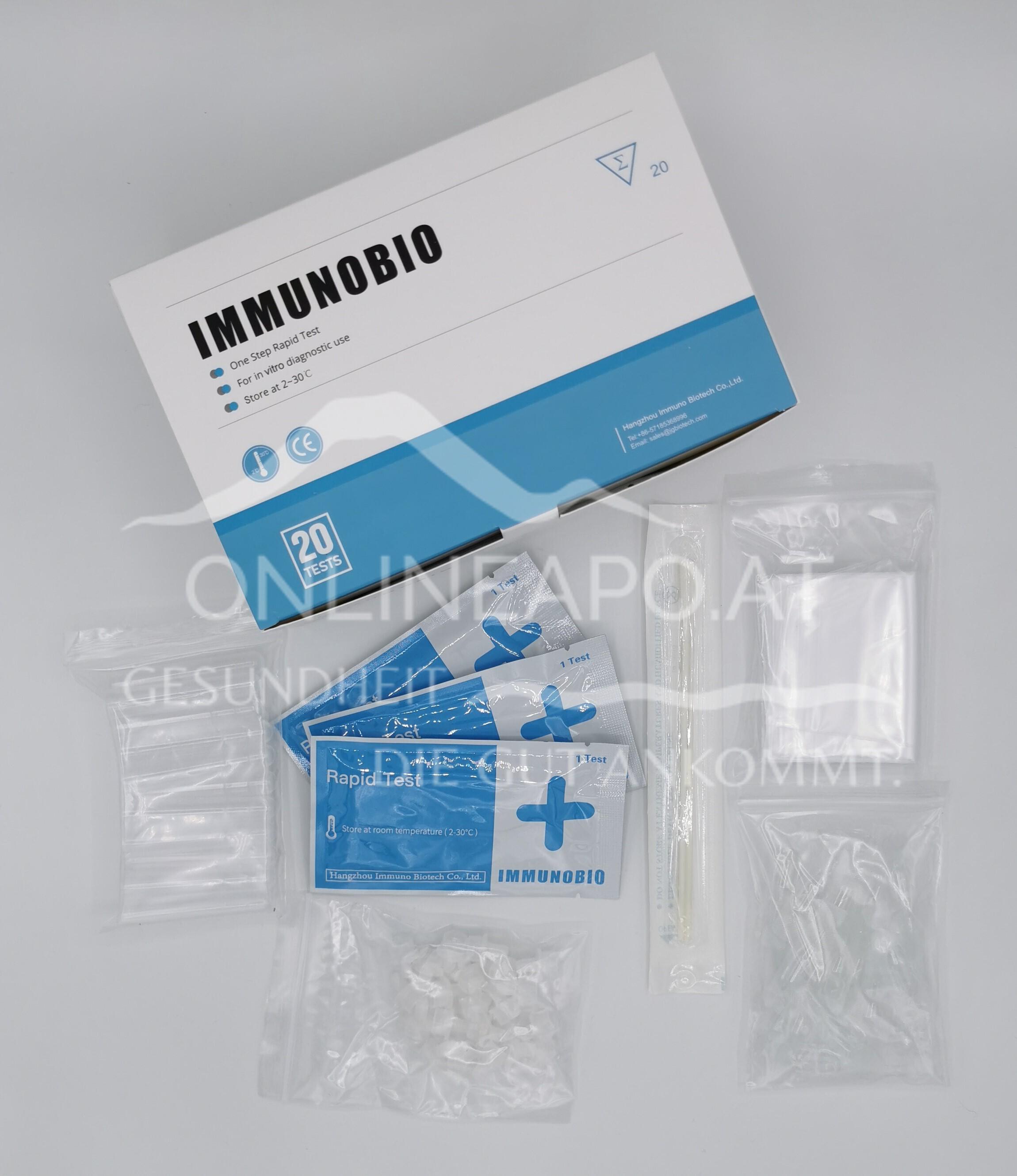 Immunobio SARS-CoV-2 Antigen Schnelltest 4 in 1