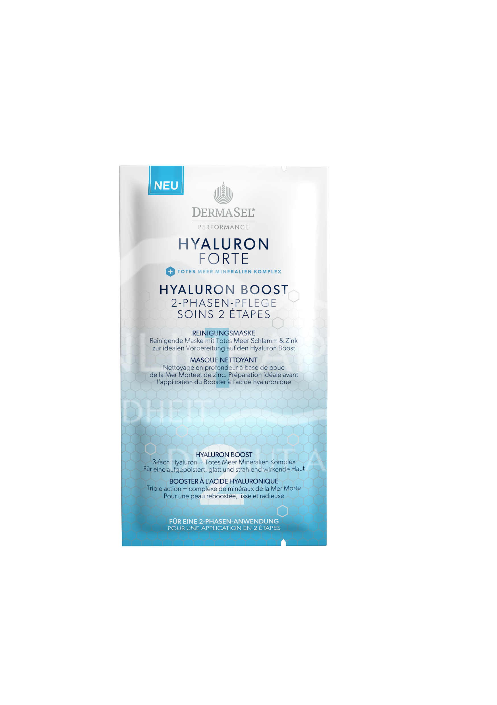 Dermasel HYALURON FORTE Hyaluron Boost 2-Phasen-Pflege Maske