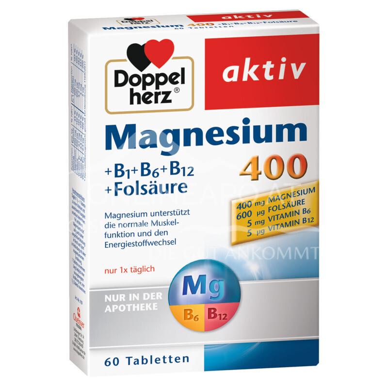 Doppelherz Magnesium 400 + B1 + B6 + B12 + Folsäure Tabletten