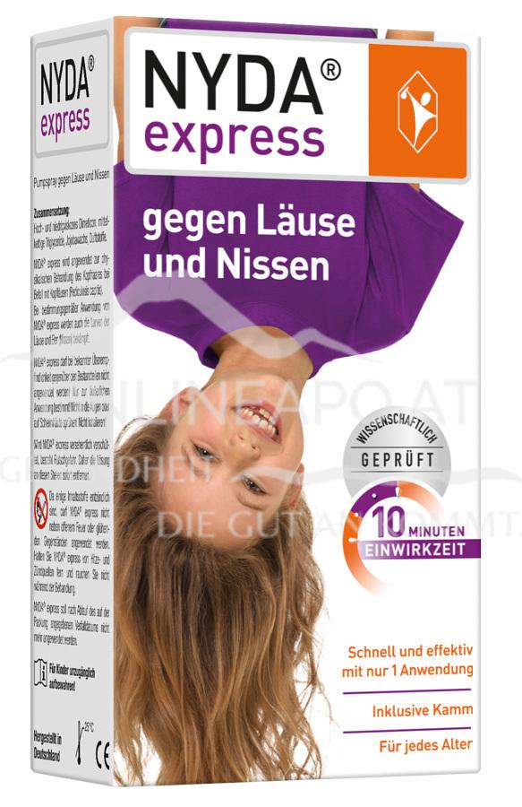 NYDA® express Pumpspray inkl. Nissenkamm