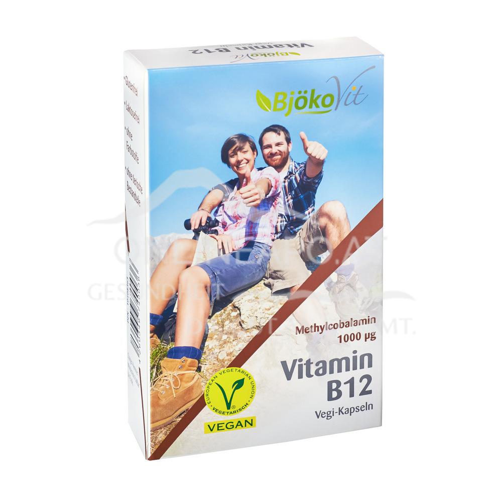 BjökoVit Vitamin B12 Kapseln 1000mcg vegan