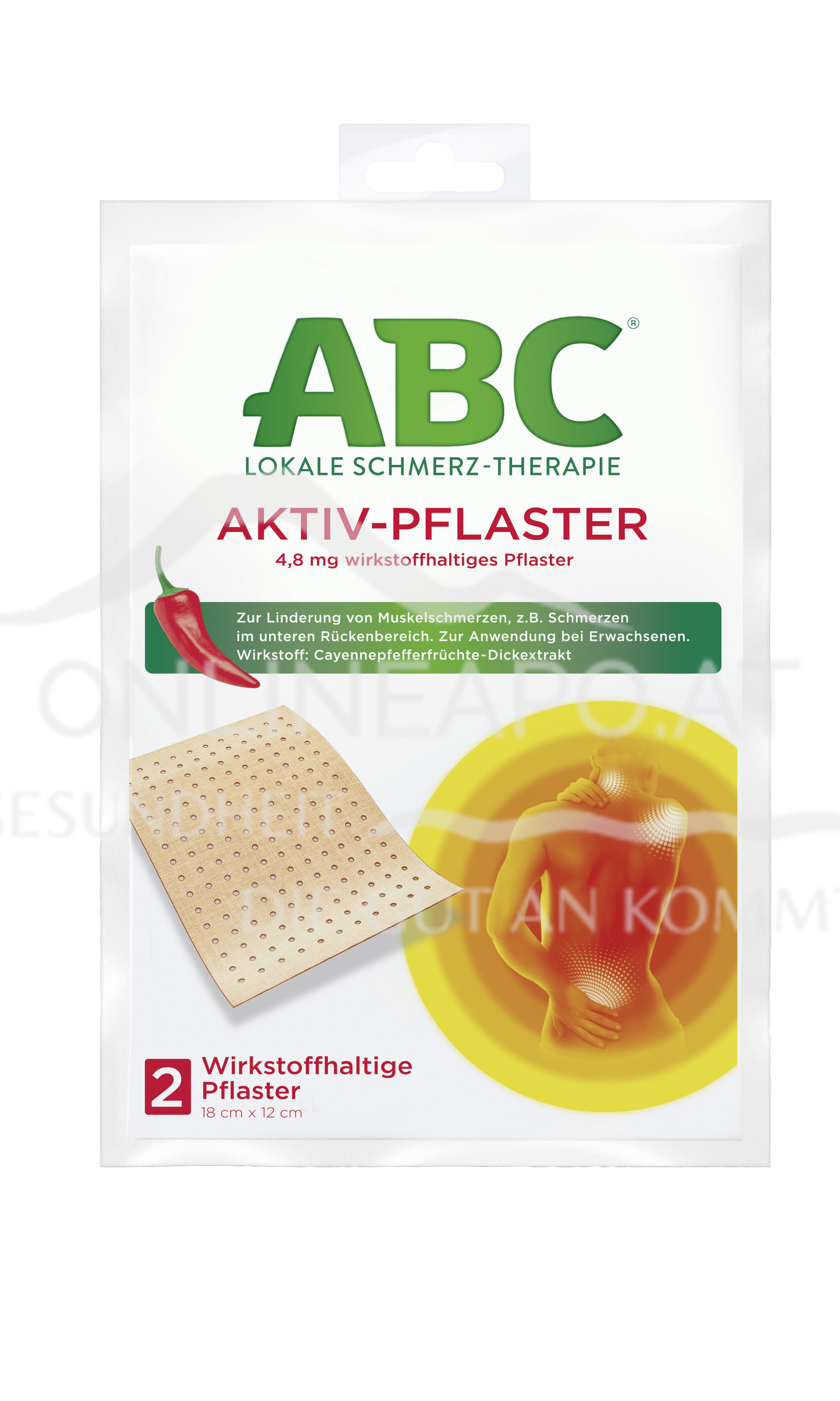 ABC® Lokale Schmerz-Therapie Aktiv-Pflaster 4,8 mg