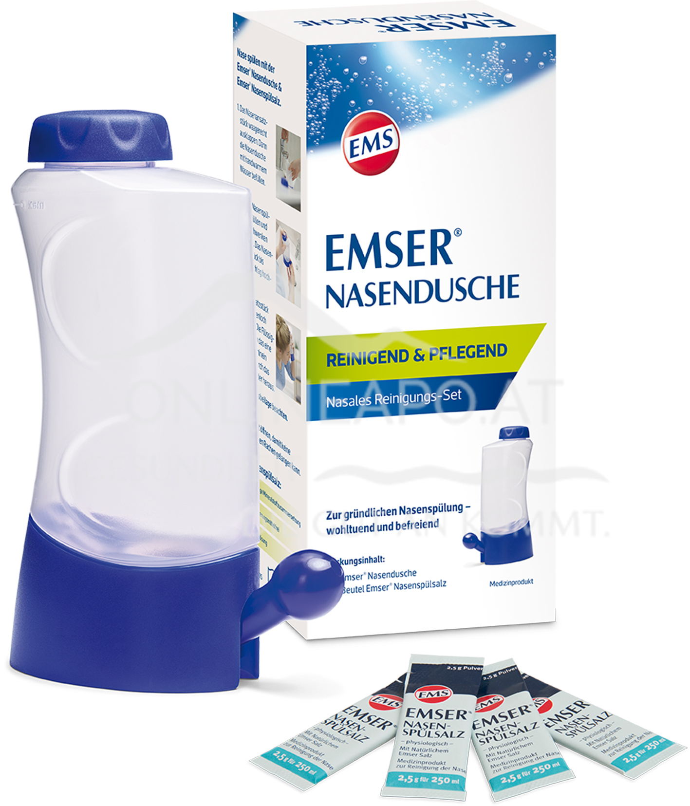 Emser® Nasendusche inkl. Nasenspülsalz 2,5g
