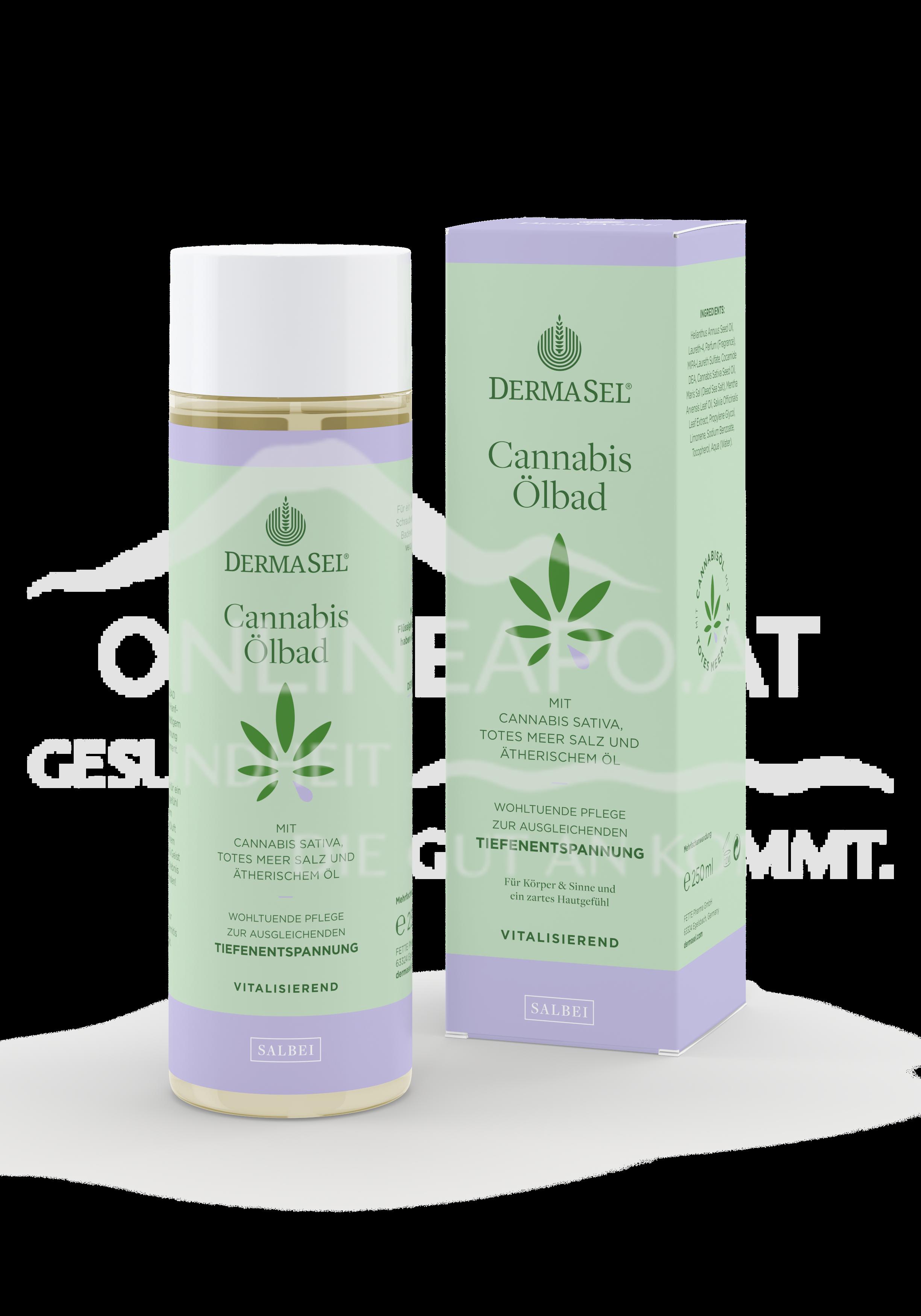 DermaSel® Cannabis Ölbad Salbei
