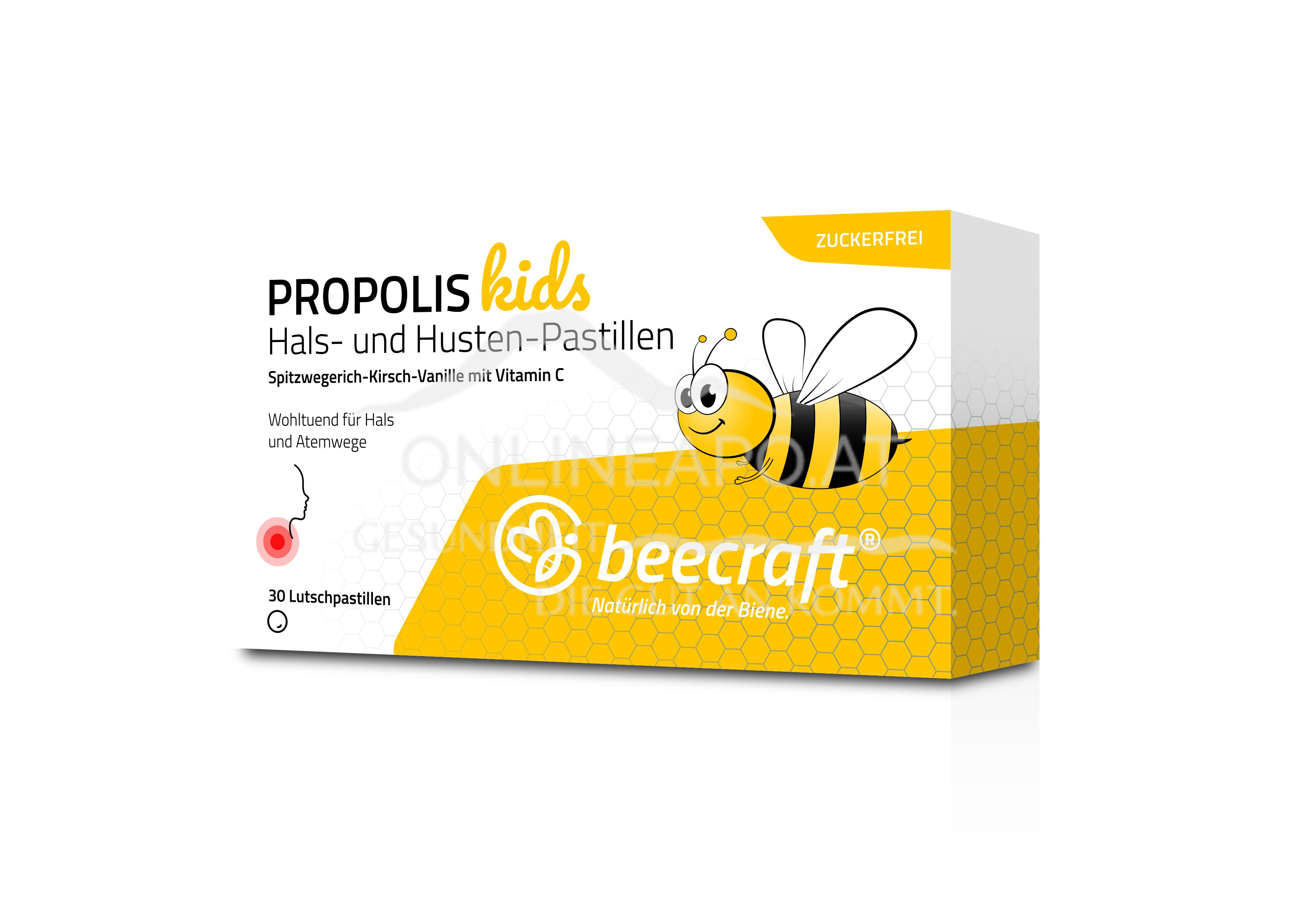 beecraft® Propolis Hals- und Husten-Pastillen für Kinder