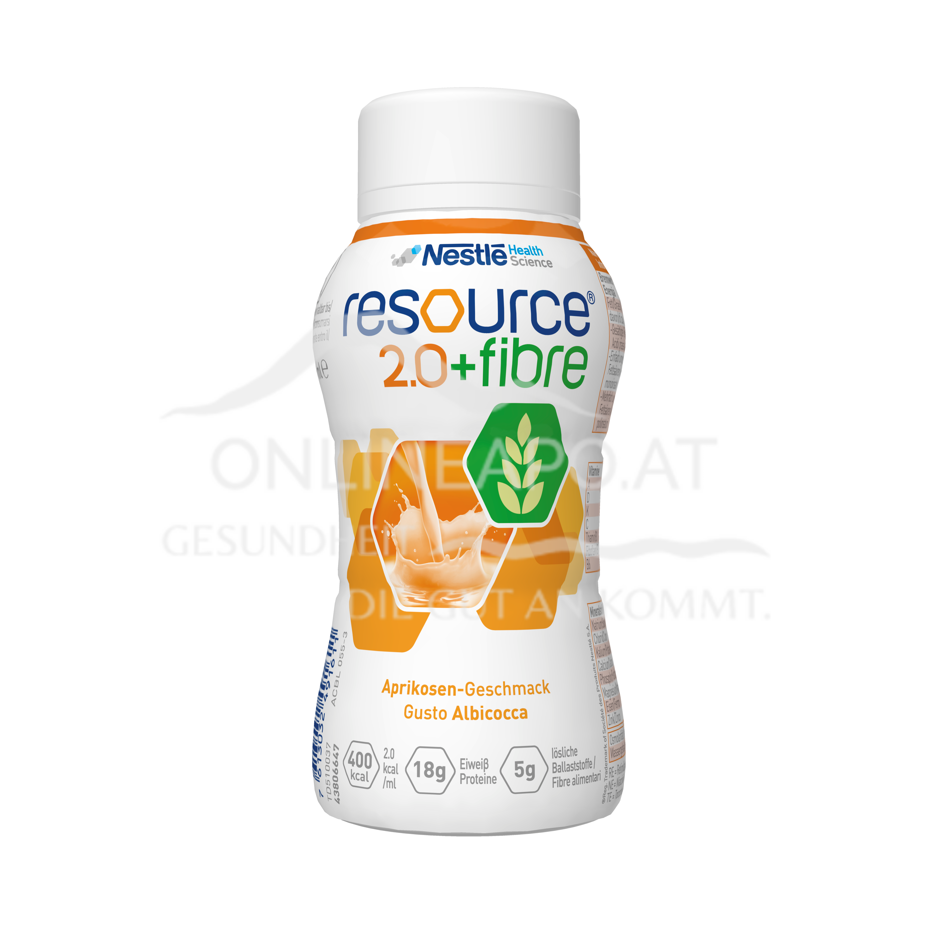 Resource® 2.0 + fibre Aprikose 4x200ml