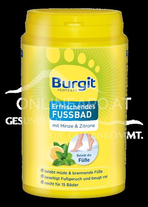 Burgit Footcare Erfrischendes Fußbad mit Minze & Zitrone