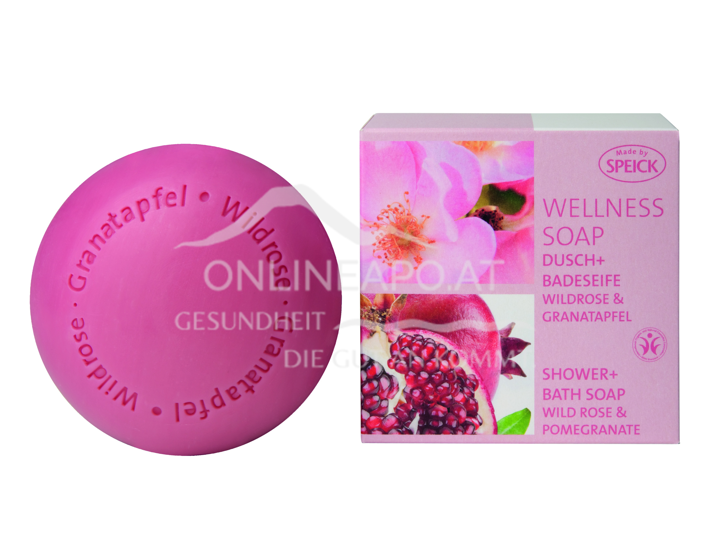 Made by Speick Wellness Soap Wildrose & Granatapfel