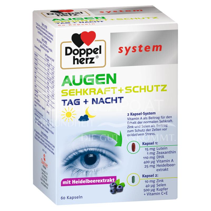 Doppelherz system AUGEN SEHKRAFT + SCHUTZ Tag + Nacht Kapseln