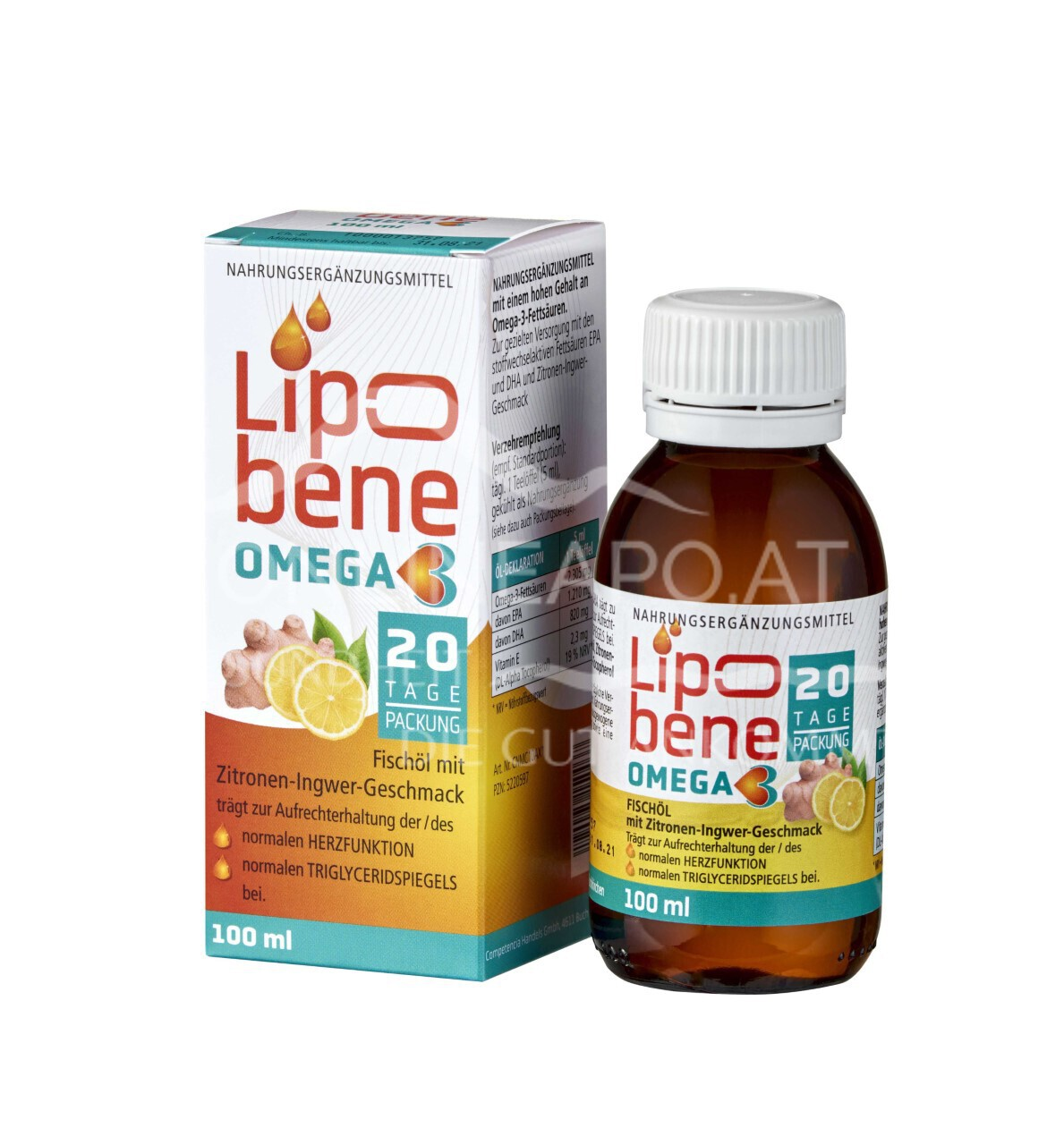 Lipobene Omega 3 Zitronen Ingwer Öl