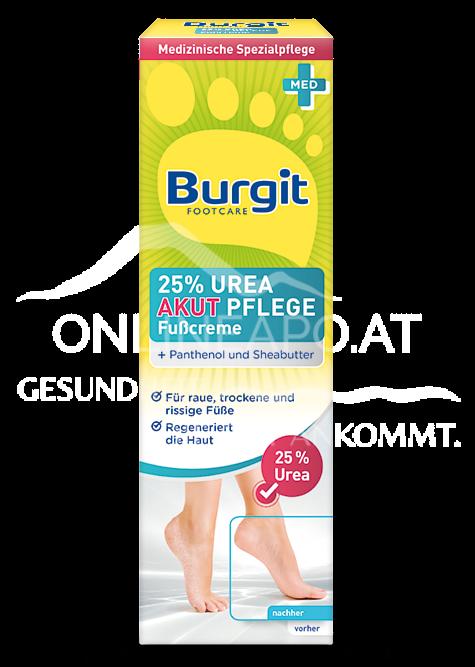 Burgit Footcare 25% Urea Akut Fußcreme