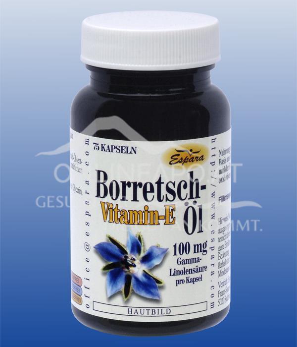 Espara Borretschöl-Vitamin E Kapseln