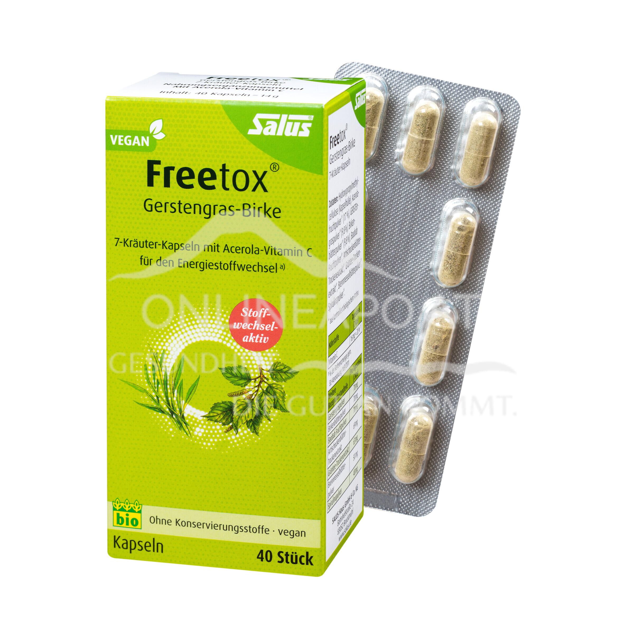 Salus® Freetox® Gerstengras-Birke Kapseln