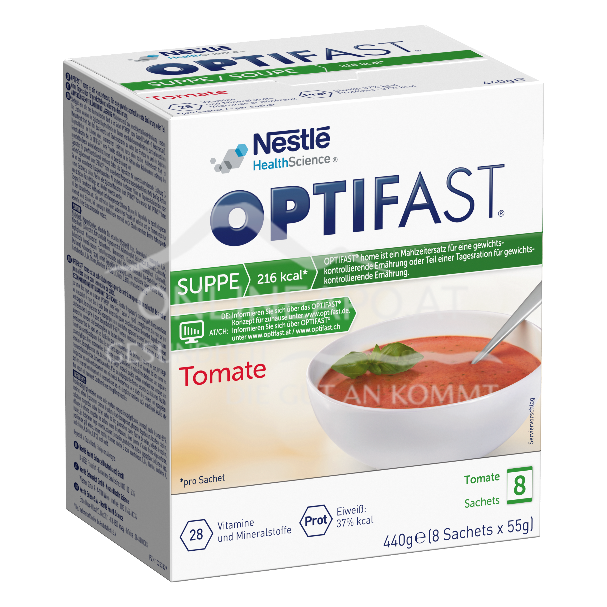 OPTIFAST® home Suppe Tomate 8x55g