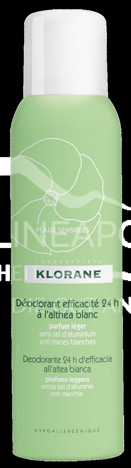 Klorane Deodorant Spray 24h mit Weißer Malve