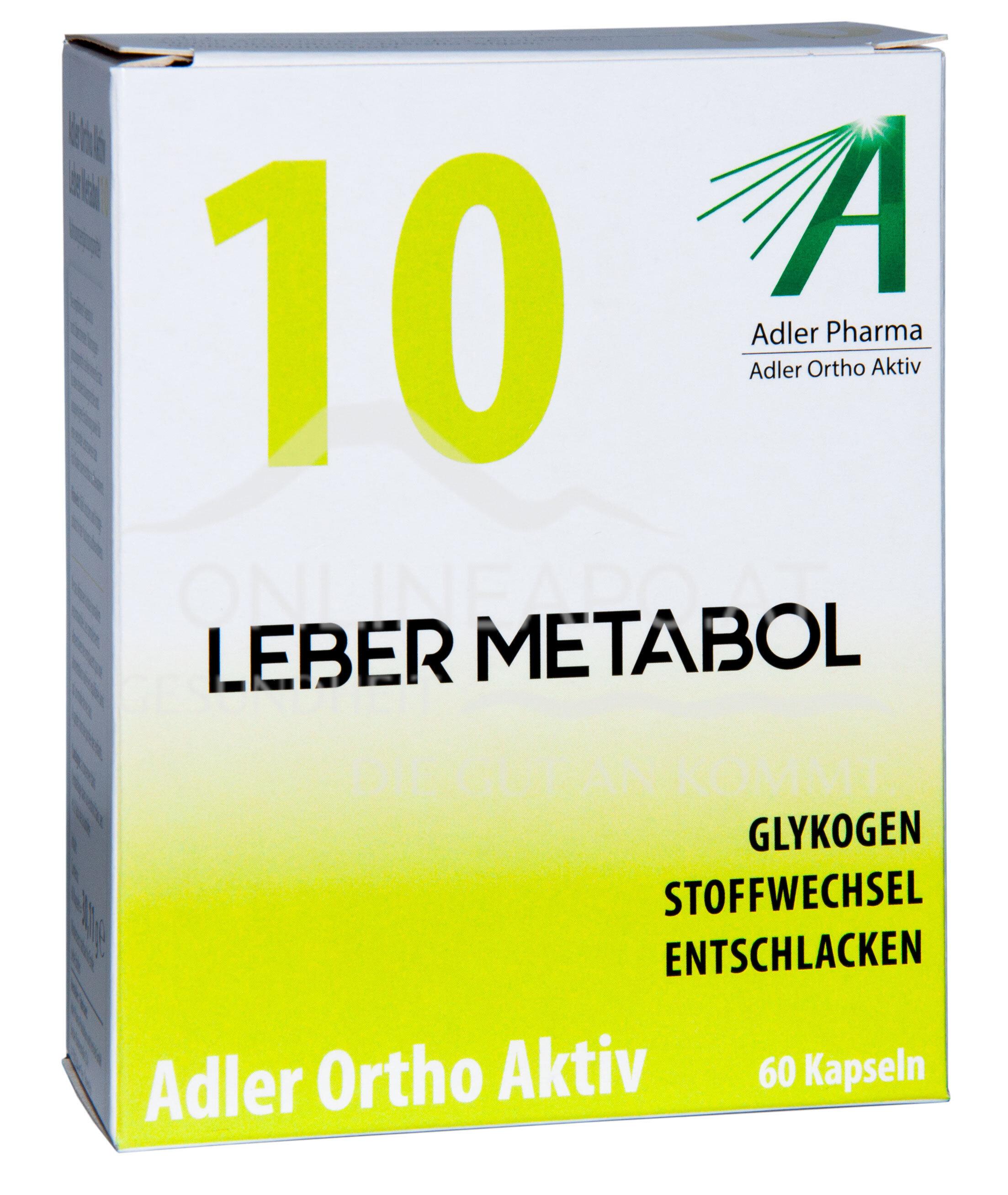 Adler Ortho Aktiv Nr. 10 Leber Metabol