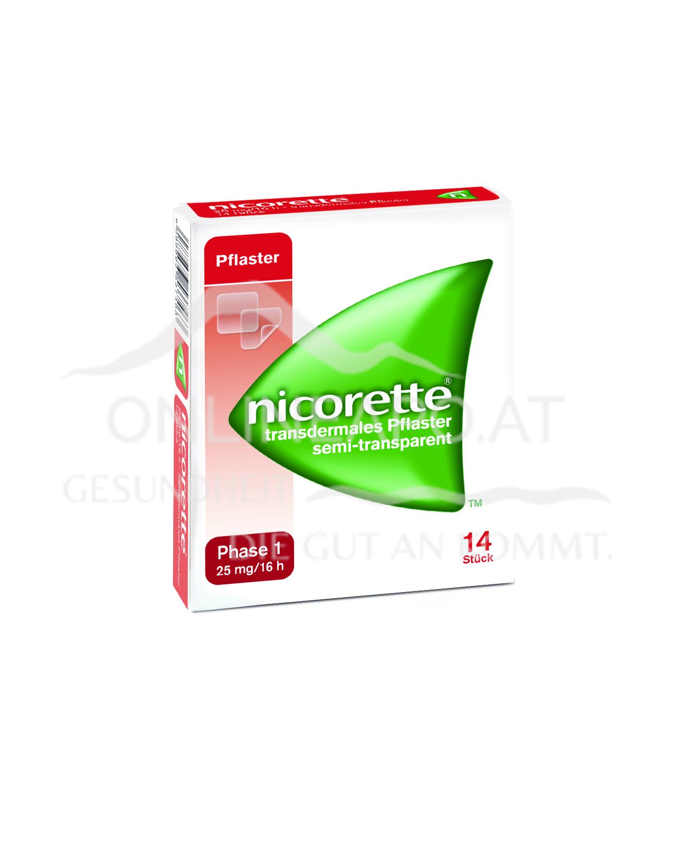 Nicorette® Transdermales Pflaster 25mg/16h