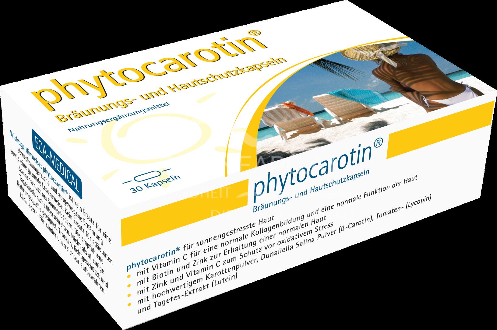 Phytocarotin Kapseln Bräunung und Hautschutz