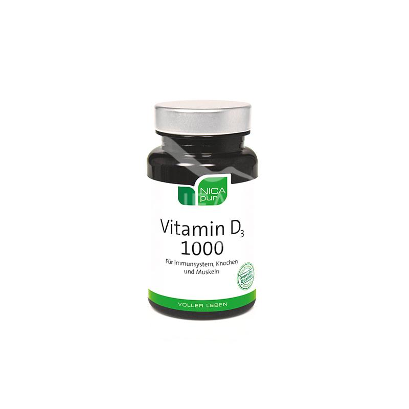 NICApur Vitamin D3 1000 Kapseln