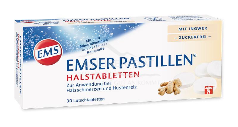 Emser Pastillen® Halstabletten mit Ingwer, zuckerfrei