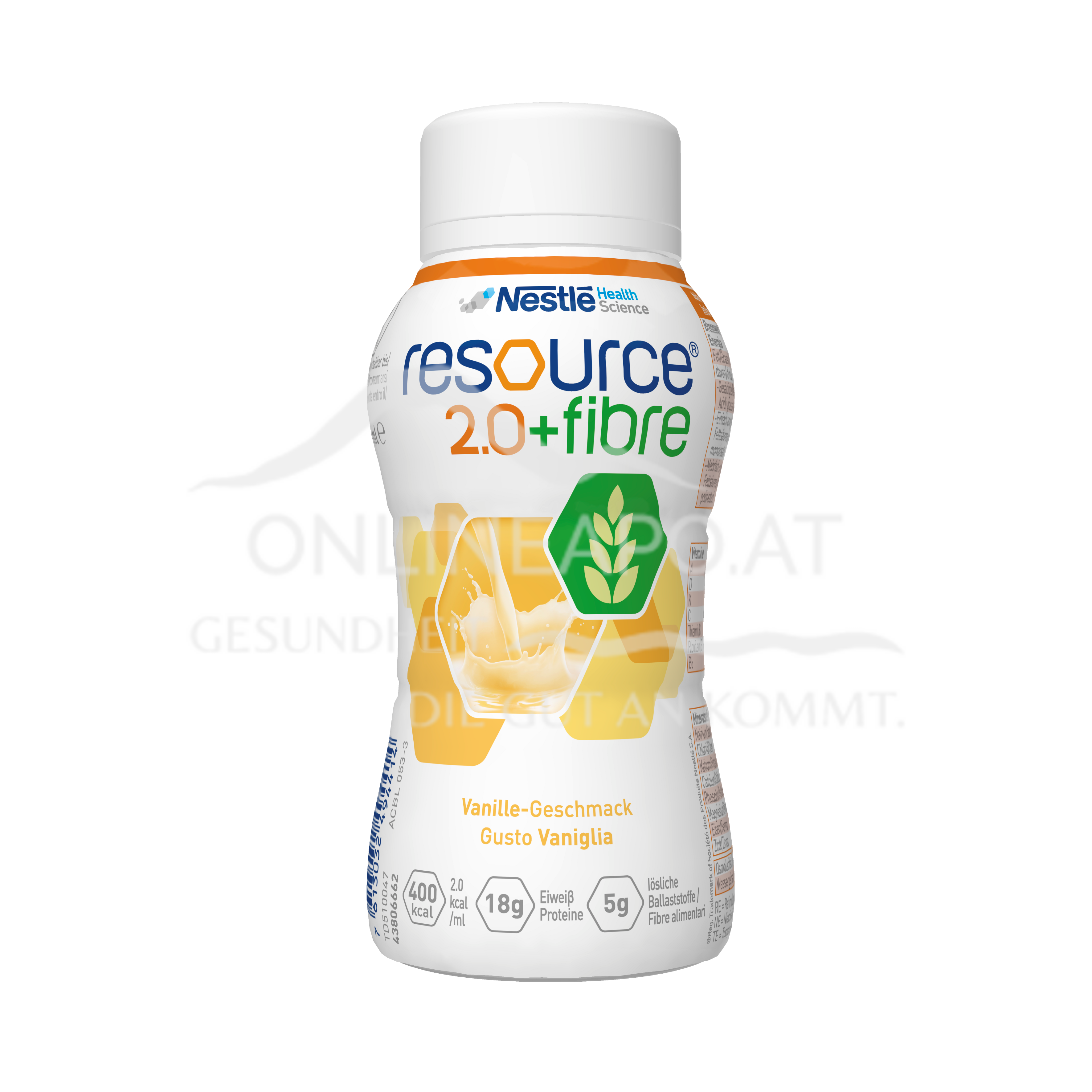 Resource® 2.0 + fibre Vanille 4x200ml